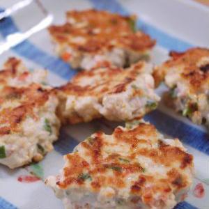 花椒でピリッ!余りもの野菜の鶏&豆腐バーグ