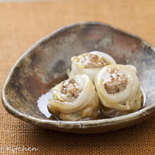 フライパンで和風ロール白菜