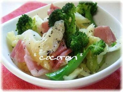 春野菜のみりん蒸し&焼肉のタレde簡単牛すき