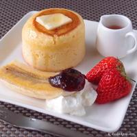 """森永ホットケーキミックス ~ """"牛乳と卵でふんわり""""厚焼きホットケーキ"""