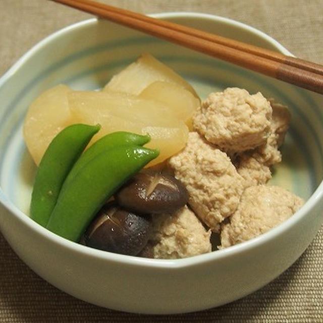 かぶと鶏団子の煮物  ベーコンの粕汁