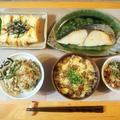 山菜ご飯・鰆の塩麴漬け焼き