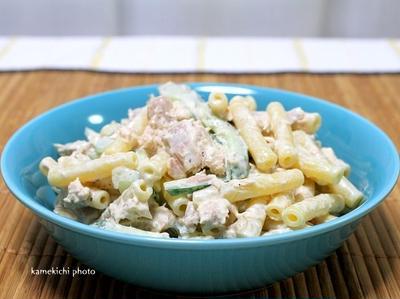地味に美味しく出来ます「ツナマヨマカロニサラダ」&嫁と二人で金閣寺近くの洋食屋さん