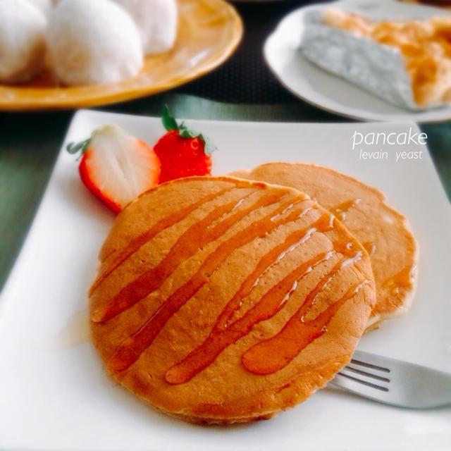 ルヴァンのパンケーキ・いちご大福
