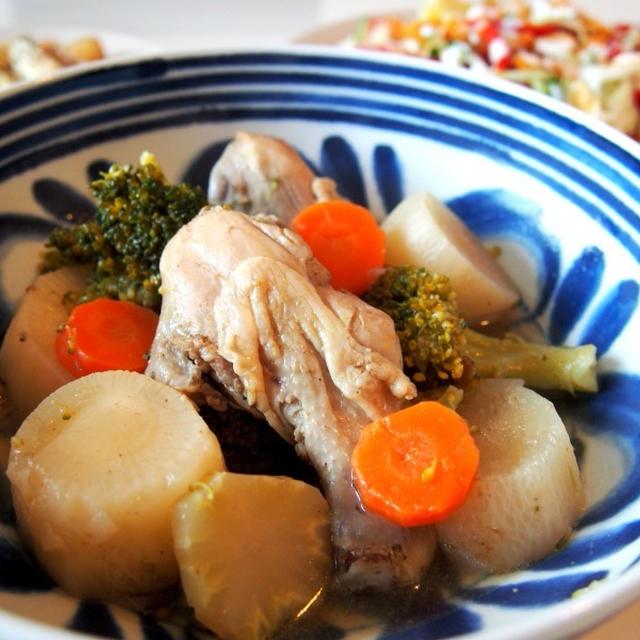 中華風手羽元と大根の煮物 と ドイツのスーパーマーケットの話