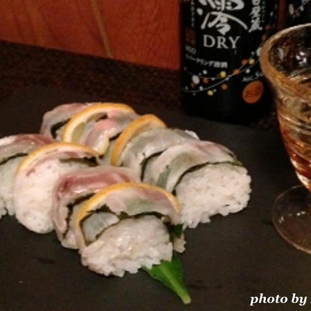 父の日に鯛の棒寿司で一杯♪