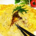 【週末!】納豆オムレツ〜海苔チーズソース〜
