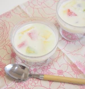 【美白&美肌に★】甘酒豆乳フルーツポンチ★