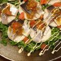 コノシロと長芋のカルパッチョ風、手作りドレッシング by 筋肉料理人さん