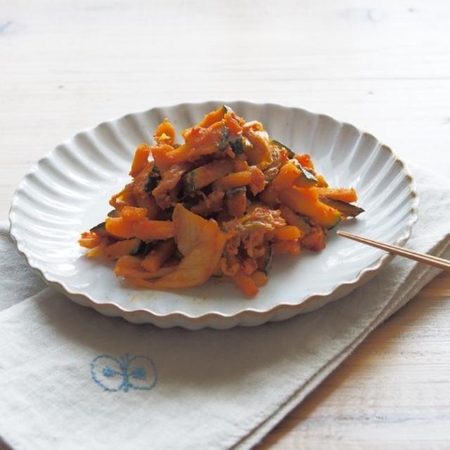 かぼちゃのキムチ炒め