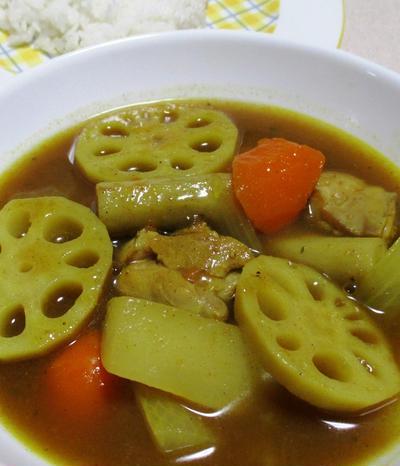 根菜のスープカレー<隠し味はシナモン>