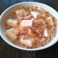 炒り米の粥マーボー