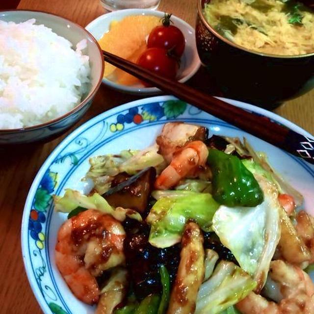 えびと野菜のオイスターソース炒め ~ ご飯がすすむ♪