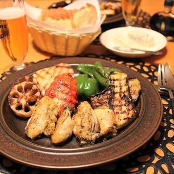 『牡蠣のソテー』とストウブで『グリル野菜』な夜ごはん。