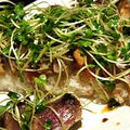 イージースモーカーで作る、鰹の燻製の洋風寿司仕立ては日本酒にもワインにも