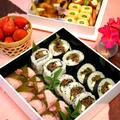 桜おにぎりと肉海苔巻きのピクニック弁当☆むさしの村!! by ぱおさん