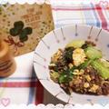 牛肉 卵 青梗菜の炒め物