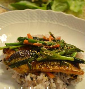 ♪★さんまの韓国風照り焼き丼★&秋の根菜サラダ♪