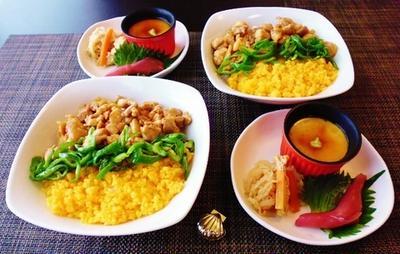 やっと7月の日々ごはん☆三色そぼろ丼と手作りたまご豆腐♪