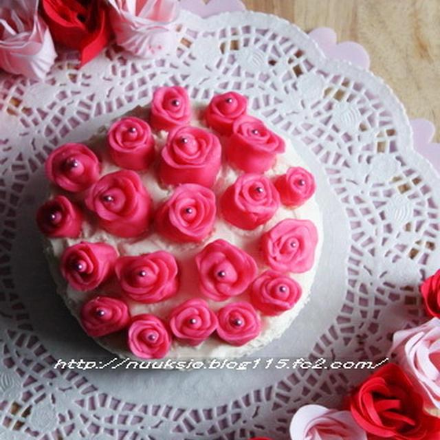 ~バレンタインスイーツ~ ホワイトチョコレートムースケーキ☆☆