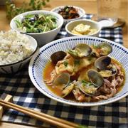 【レシピ】あさりとキャベツのトマト煮込み✳︎残りもののトマトソースで✳︎煮込み料理
