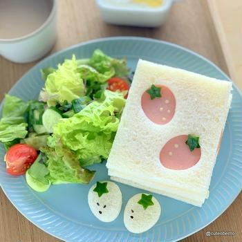 かんたん&かわいい・いちごのサンドイッチ