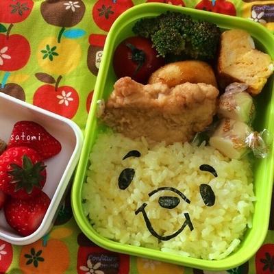 2015/03/05 幼稚園弁当☆まさかの…!! プーさん キャラ弁Σ(゚д゚ )