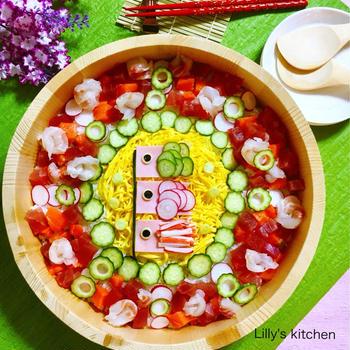 鯉のぼりチラシ寿司