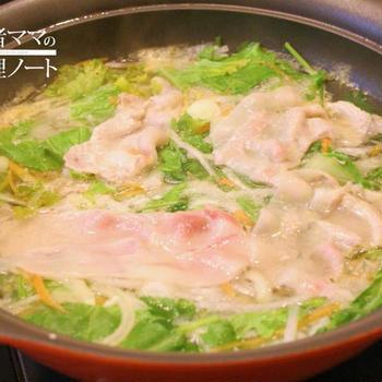 サラダしゃぶしゃぶ、〆はお蕎麦!