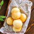卵不要♪お餅とホットケーキミックスで簡単・節約♡材料4つモチモチチーズパン♡ポンデケージョ お菓子なパン