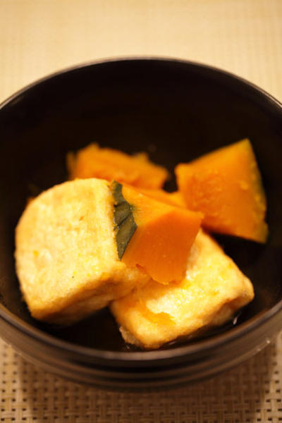 揚げだし豆腐とかぼちゃの煮物