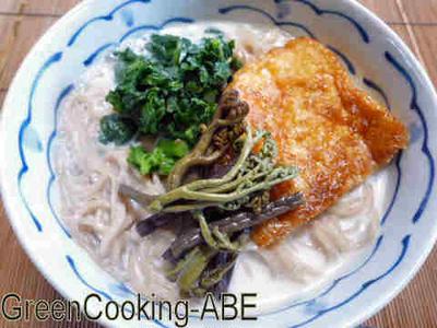 豆乳スープの蕎麦