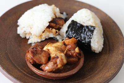 鶏肉とモッツァレラの塩麹味噌おにぎり☆
