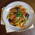 鰻と夏野菜の甘辛炒め煮