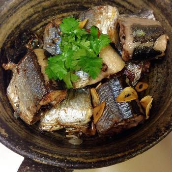 ☆秋刀魚のアヒージョ