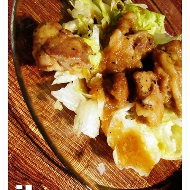 鶏もも肉のガッツリ焼き