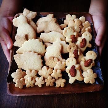 読売新聞に掲載❤️と、3男の自由研究に♪親子で作るさっくさく型ぬきクッキー♪