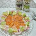 サーモンのカルパッチョ~ロマネスコと赤カブのマリネ添え♪ by ei-recipeさん