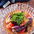 なすとトマトのポン酢マリネ【#作り置き #夏の常備菜 #レンジ #ワンボウル #調味料3つ #汁まで飲み干す #冷やすと美味しい #あと一品 #副菜】