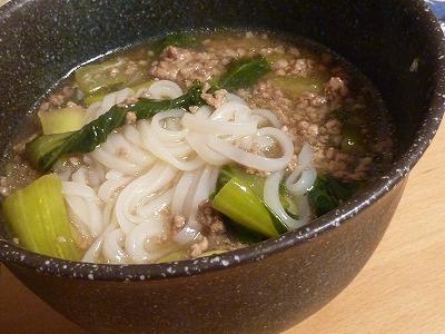 麺入り☆チンゲンサイと挽き肉の中華煮み