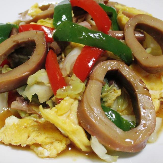 イカと彩り野菜のオイスターソース炒め