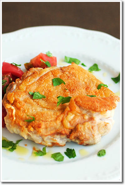 シンプルな鶏もも肉のソテー