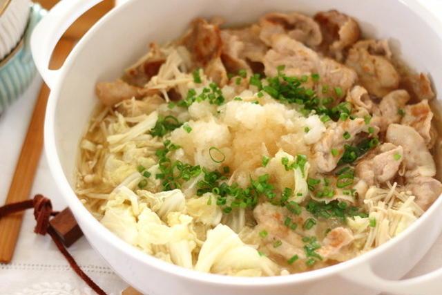 豚肉と白菜とえのきの鍋風みぞれ煮