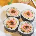 母の日にいいお花巻き寿司4種類集めてみました。