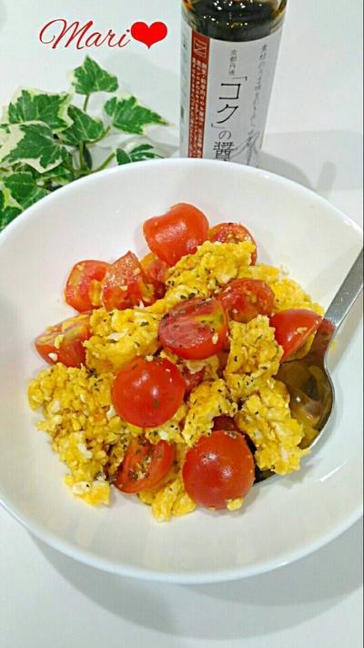 素材の旨味を引き出し味を整える~京都丹後「コク」の醤油~簡単シンプル!卵とトマトの中華炒め
