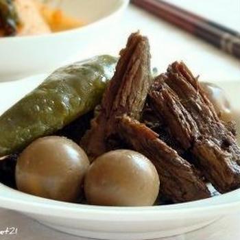 ほかほかご飯のお供に♪韓国風牛すね肉の醤油煮のレシピ
