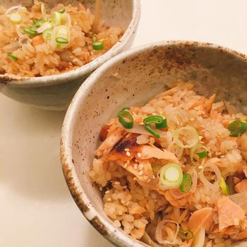 鮭とゴボウご飯