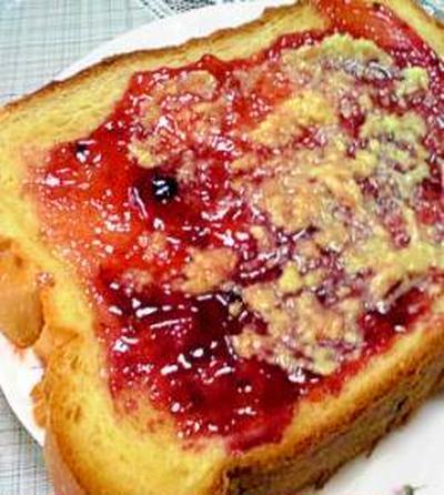 毎日元気★母のピリ辛ジャム生姜トースト