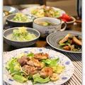 鶏肉とキャベツのスイートチリソース炒め&エスニックスープ