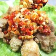 《レシピ》カラフル野菜のひとくち油淋鶏。